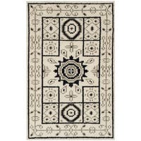 Safavieh Hand-Knotted Kenya Ivory/ Grey Wool Rug - 2' x 3'