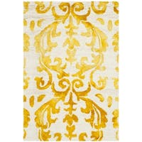 Safavieh Hand-Tufted Dip Dye Ivory/ Gold Wool Rug - 2' x 3'