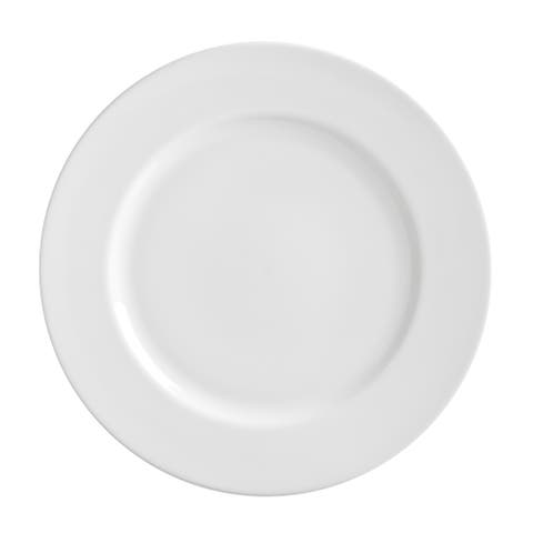 10 Strawberry Street Royal White Dinner Plate 11-inch Set of 6