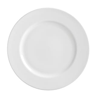 10 Strawberry Street Royal White Dinner Plate 11-inch Set of 6