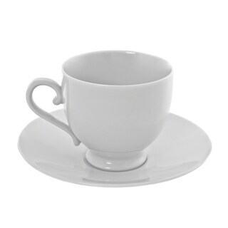 10 Strawberry Street Royal White Sophia Cup/Saucer Set of 6