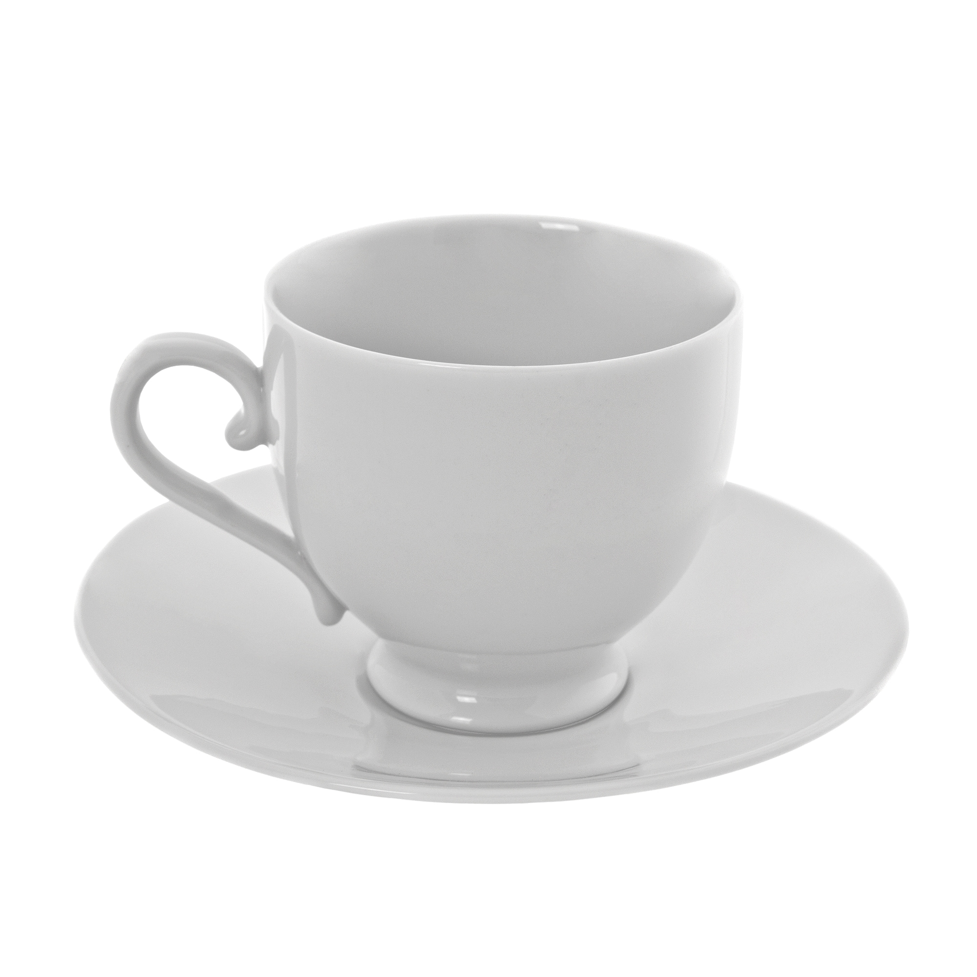 Royal White Sophia Cup Saucer Set