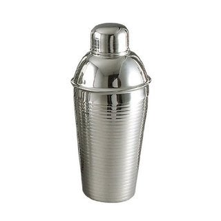 Elegance 22-Ounce Stainless Steel Lines Cocktail Shaker