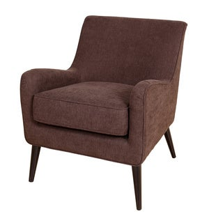 Porter Kristina Chocolate Brown Microfiber Accent Chair