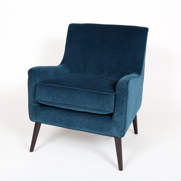 Amazing Shop Handmade Kristina Ocean Blue Accent Chair 33 X 26 X Machost Co Dining Chair Design Ideas Machostcouk