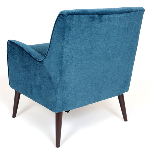 porter kristina ocean blue accent chair - free shipping today