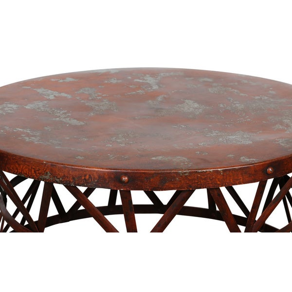 Wanderloot Truss Red Distressed Industrial Metal Coffee Table India Free Shipping Today Overstock Com 17689487