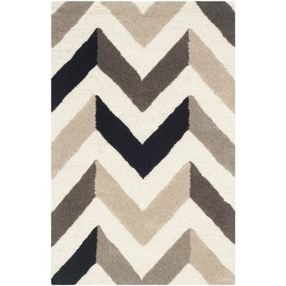 Safavieh Hand-Tufted Cambridge Ivory/ Black Wool Rug (2' x 3')
