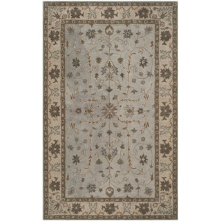 Safavieh Handmade Heritage Timeless Traditional Green/ Beige Wool Rug (9' x 12')