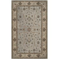 Safavieh Handmade Heritage Timeless Traditional Green/ Beige Wool Rug - 9' x 12'