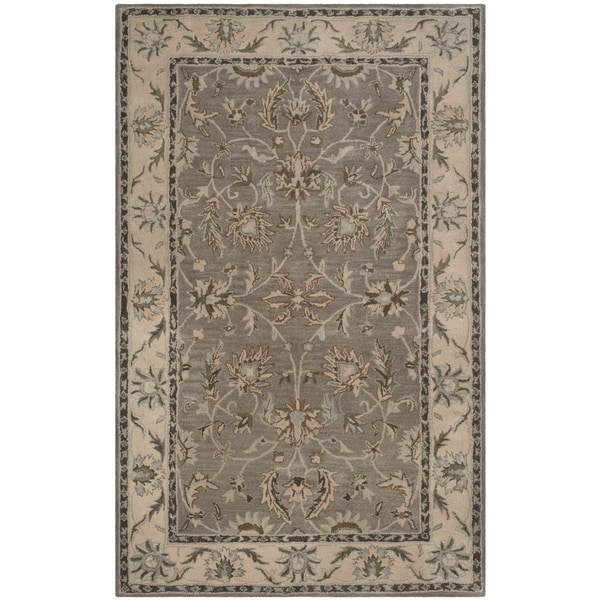 Safavieh Handmade Heritage Timeless Traditional Grey/ Beige Wool Rug - 9' x 12'