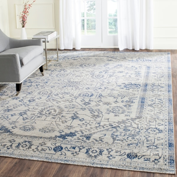 Safavieh Artisan Vintage Silver/ Blue Distressed Area Rug - 10' x 14'
