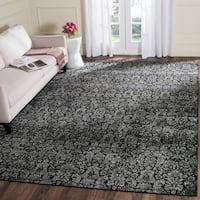 Safavieh Vintage Damask Black/ Light Grey Distressed Rug - 9' x 12'