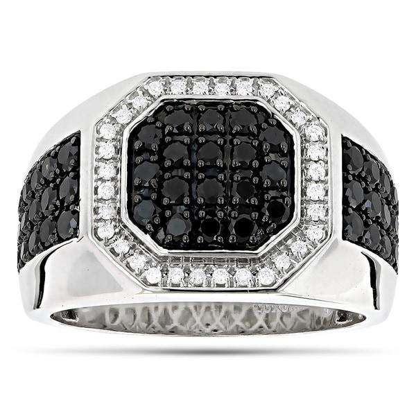 207692d5197d07 Shop Luxurman 14k Gold Men's 1 4/5ct TDW White and Black Diamond ...