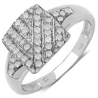 Malaika 0.24 Carat Genuine White Diamond .925 Sterling Silver Ring