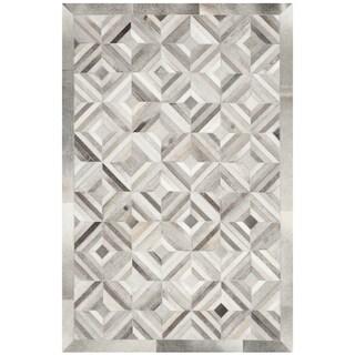 Safavieh Handmade Studio Leather 200 Modern Grey Rug (3' x 5')