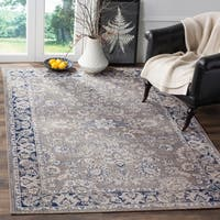Safavieh Artisan Vintage Grey/ Blue Distressed Area Rug - 4' x 6'