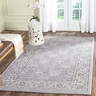 Safavieh Carmel Light Blue/ Ivory Cotton Rug (4' x 6')
