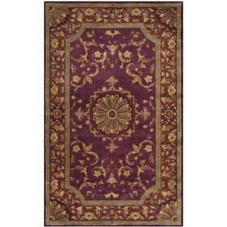 Safavieh Handmade Empire Dani Traditional Oriental Wool Rug (4 x 6 - Burgundy)