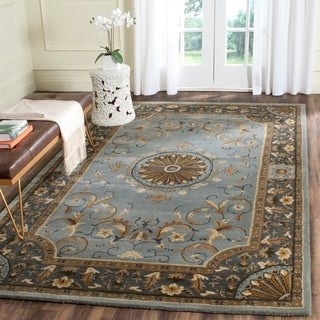 Safavieh Hand-Tufted Empire Blue Wool Rug (4' x 6')