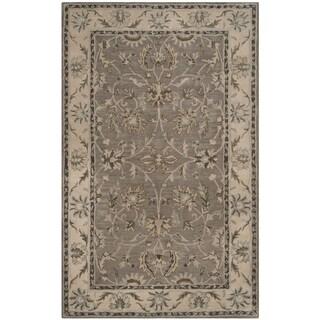 Safavieh Handmade Heritage Timeless Traditional Grey/ Beige Wool Rug (4' x 6')
