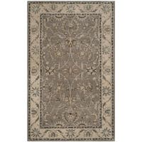 Safavieh Handmade Heritage Timeless Traditional Grey/ Beige Wool Rug - 4' x 6'