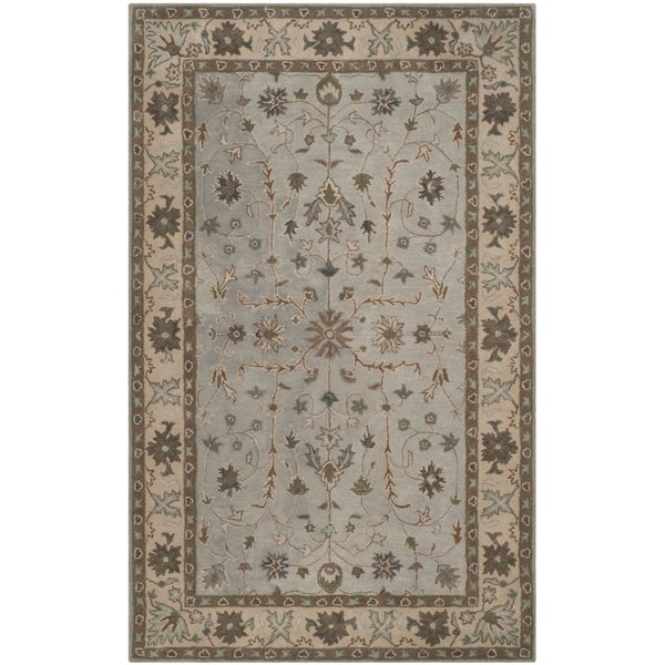 Safavieh Handmade Heritage Timeless Traditional Green/ Beige Wool Rug (4' x 6')
