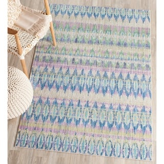 Safavieh Handmade Moroccan Chatham Chevron Purple Wool Rug