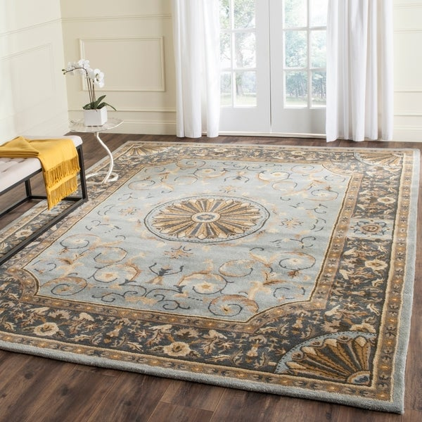 Safavieh Hand-Tufted Empire Blue Wool Rug - 8'3 x 11'