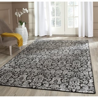 Safavieh Vintage Damask Black/ Light Grey Distressed Rug (4' x 5'7)