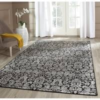 Safavieh Vintage Damask Black/ Light Grey Distressed Rug - 4' x 5'7