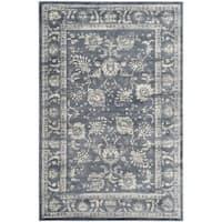 Safavieh Vintage Oriental Dark Grey/ Cream Distressed Rug - 4' x 5'7