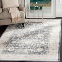 Safavieh Vintage Oriental Dark Blue/ Cream Distressed Rug - 4' x 5'7