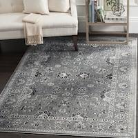 Safavieh Vintage Oriental Dark Grey/ Light Grey Distressed Rug - 4' x 5'7