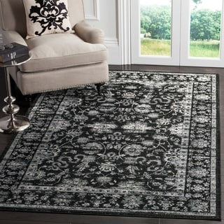 Safavieh Vintage Oriental Black/ Light Grey Distressed Rug (4' x 5'7)