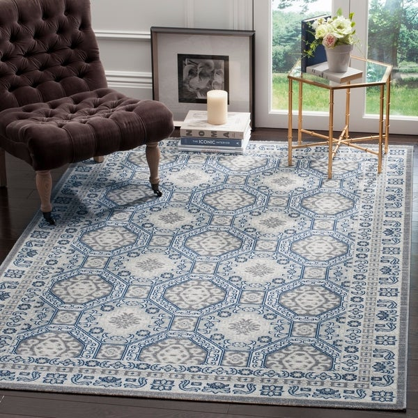 "Safavieh Artisan Vintage Silver/ Blue Distressed Area Rug - 5'1"" x 7'6"""