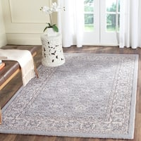 Safavieh Carmel Vintage Light Blue/ Ivory Distressed Rug (5'1 x 7'6)
