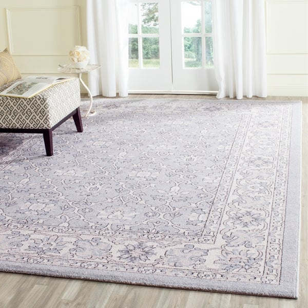 Safavieh Carmel Vintage Light Blue/ Ivory Distressed Rug - 9' x 12'