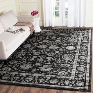 Safavieh Vintage Oriental Black/ Light Grey Distressed Rug (8' x 11')