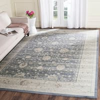 Safavieh Vintage Oriental Dark Blue/ Cream Distressed Rug - 8' x 11'