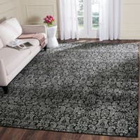 Safavieh Vintage Damask Black/ Light Grey Distressed Rug - 8' x 11'