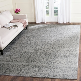 Safavieh Vintage Damask Dark Grey/ Light Grey Distressed Rug (8' x 11')