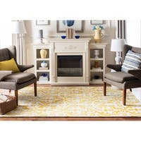 Safavieh Hand-Tufted Dip Dye Ivory/ Gold Wool Rug - 5' x 8'