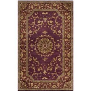 Safavieh Handmade Empire Dani Traditional Oriental Wool Rug (5 x 8 - Burgundy)