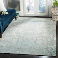 Safavieh Mystique Watercolor Teal/ Multi Silky Rug - 5' x 8'