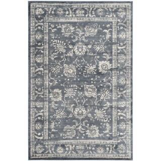 Safavieh Vintage Oriental Dark Grey/ Cream Distressed Rug (5'1 x 7'7)