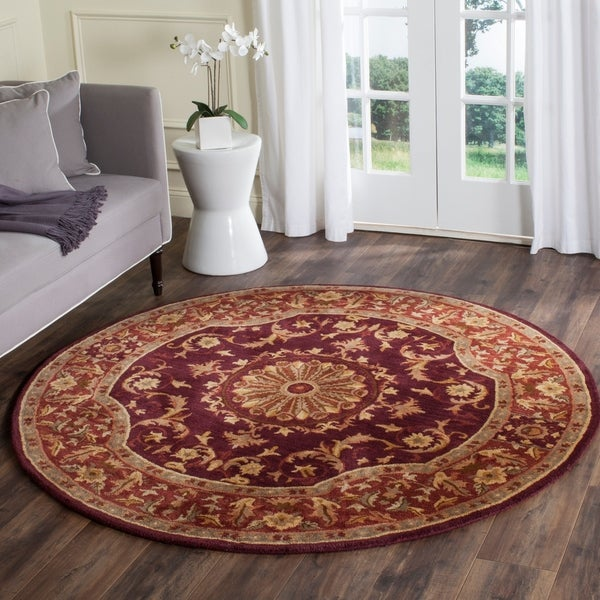 Safavieh Hand-Tufted Empire Burgundy Wool Rug - 7'6 x 9'6