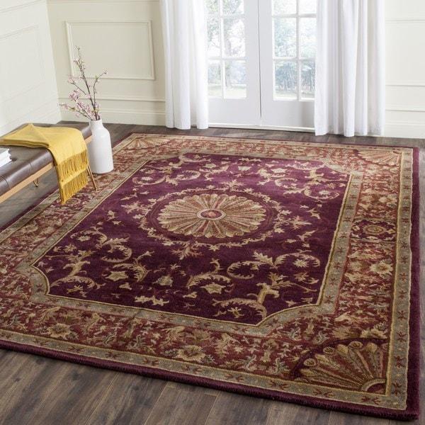 Safavieh Hand-Tufted Empire Burgundy Wool Rug (7'6 x 9'6)