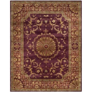 Safavieh Handmade Empire Dani Traditional Oriental Wool Rug (6 x 9 - Burgundy)