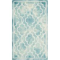 Safavieh Handmade Dip Dye Watercolor Vintage Turquoise/ Ivory Wool Rug - 3' x 5'